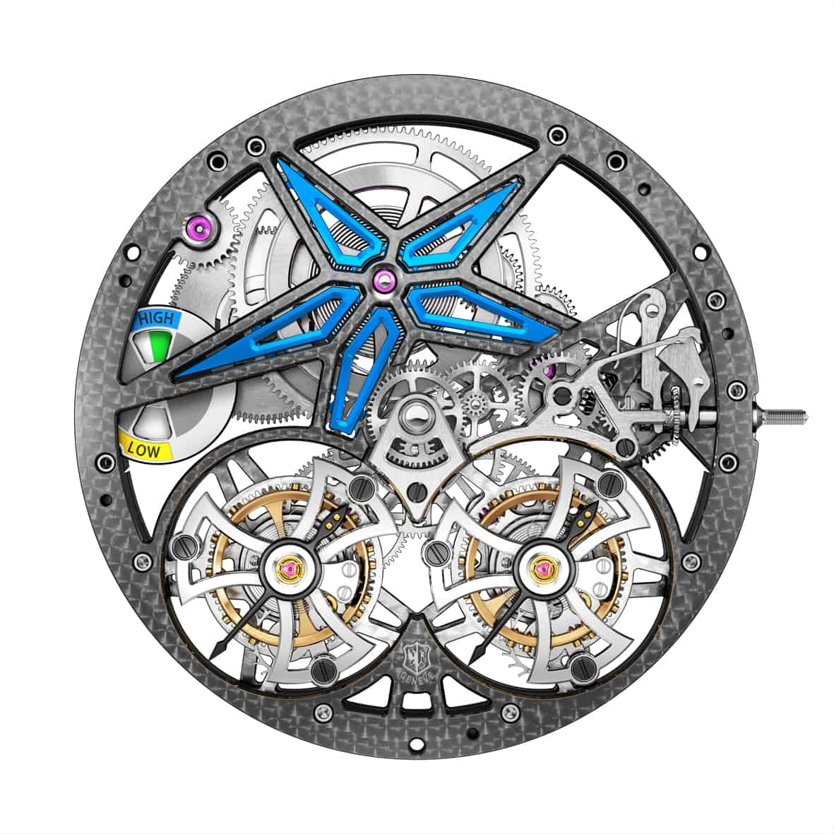 Roger Dubuis Excalibur Pirelli Doppeltourbillon Kaliber RD105SQ