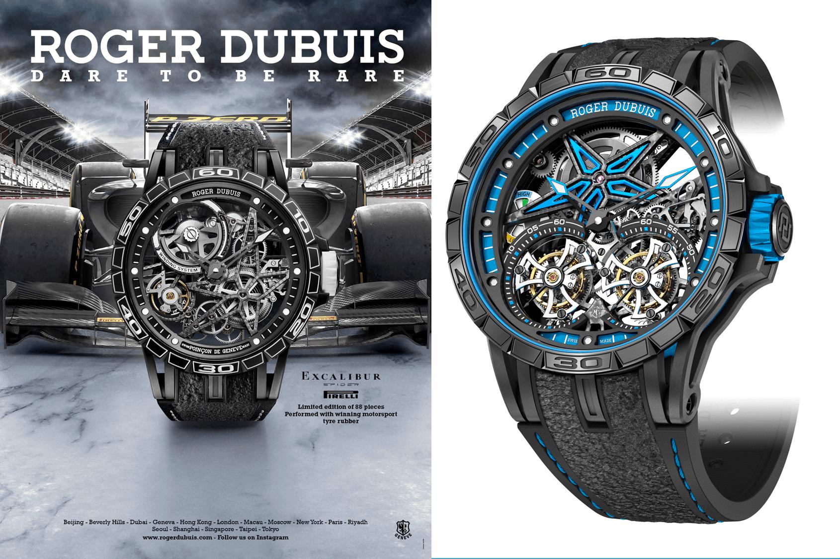 Roger Dubuis Excalibur Spider PirelliRoger Dubuis Excalibur Spider Pirelli: Ein F1 Reifen für mehr Grip