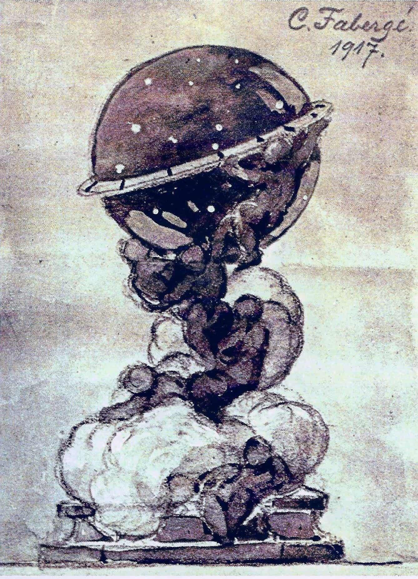 Die kreative Geschichte von Fabergé verpflichtet - hier das Fabergé Constellation Ei aus dem Jahr 1917 - das Bild ist von Igor Carl Fabergé