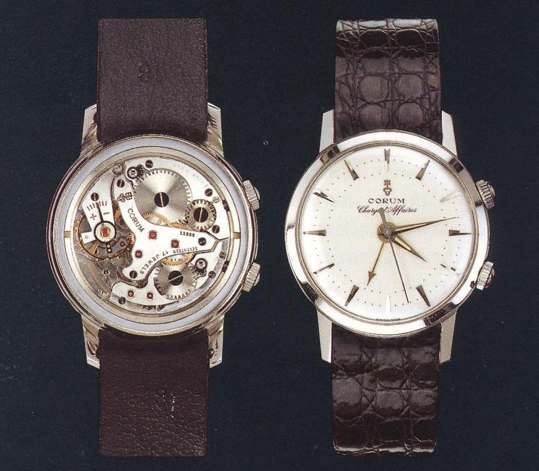 Das Modell Corum Charge d'Affaires von 1956 zeigt, dass Corum durchaus hochwertige klassische Uhren produziert