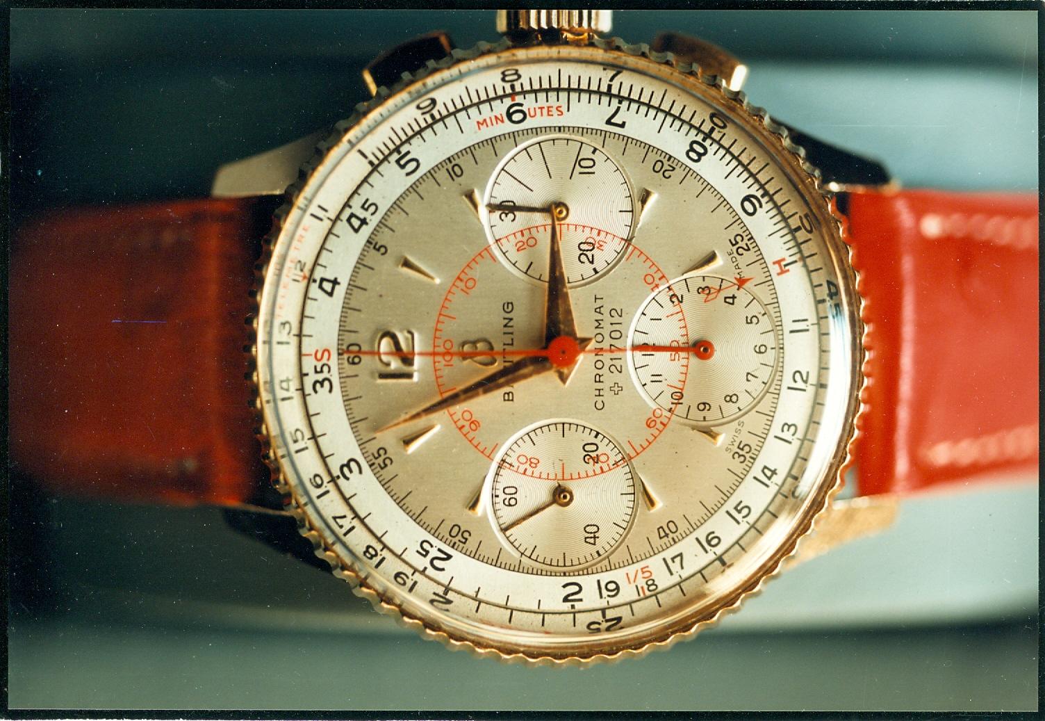 Eine klassische Schönheit - der Breitling Chronograph aus den 40-er Jahren des letzten Jahrhunderts