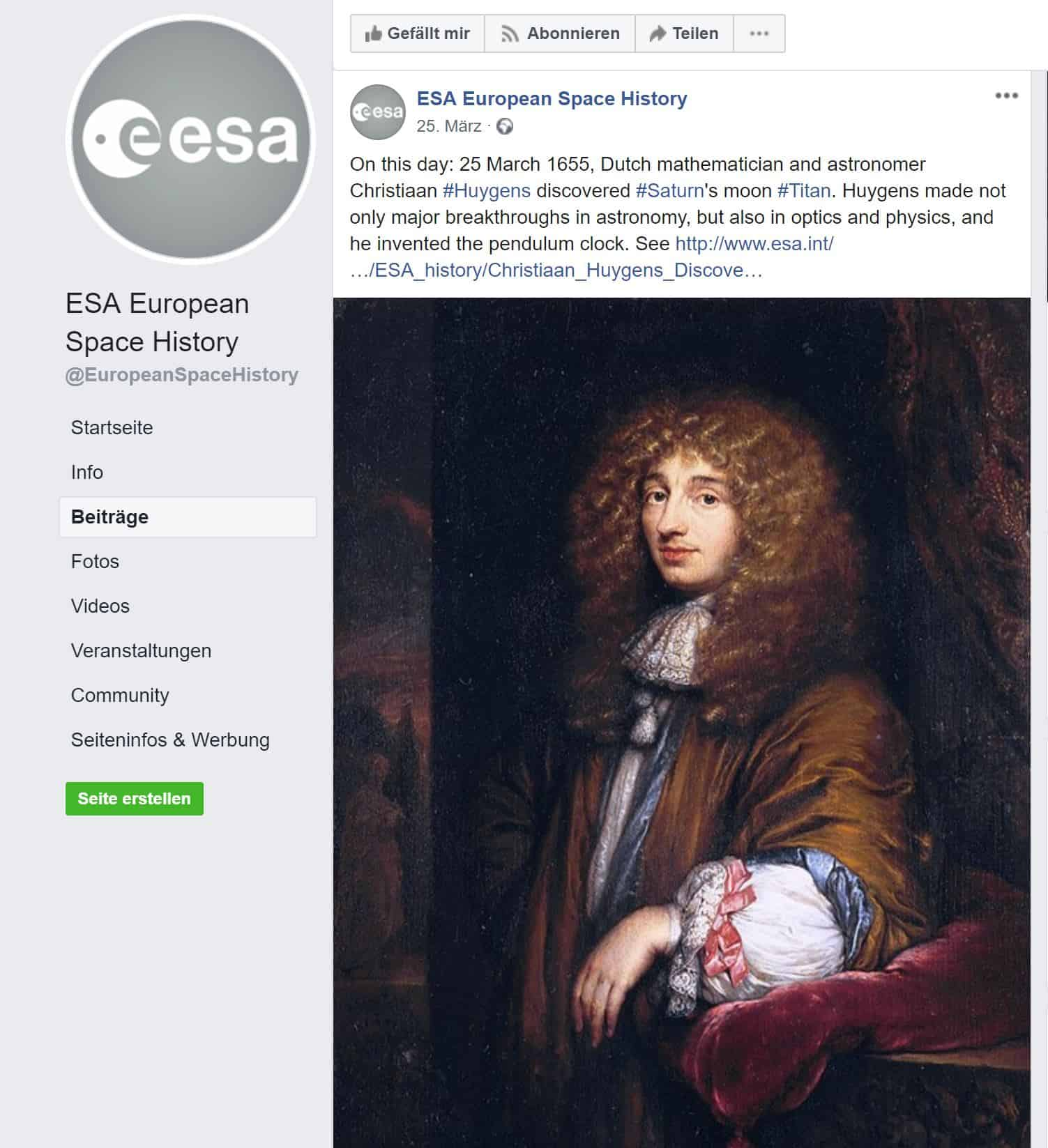 Der Astronom Christiaan Huygens war Astronom, Wissenschaftler und Erfinder. Er erfand auch die Pendeluhr und konstruierte sie bereits mit einer unglaublichen Präzision von nur +/- 10 Sekunden pro Tag