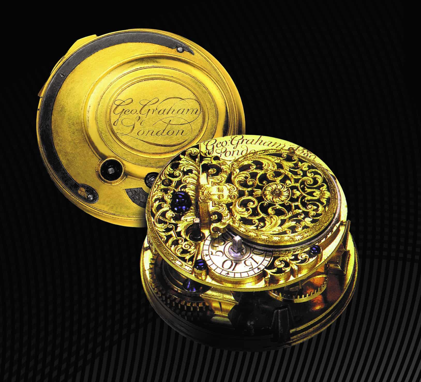 Durchbrochenes verziertes Uhrwerk von George Graham Uhrmacher