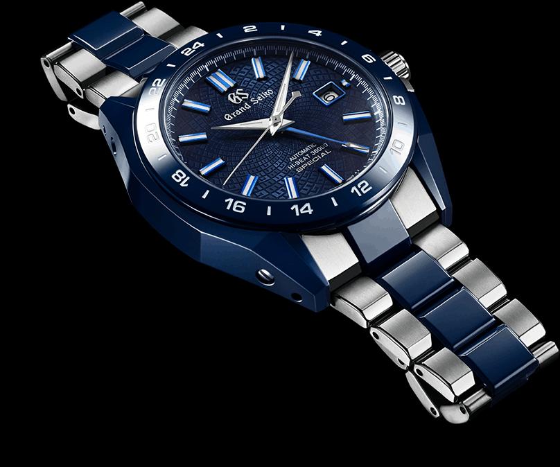 Die Grand Seiko Blue Ceramic Hi-beat GMT Special Limited Edition mit 36.000 Halbschwingungen und Uhrengehäuse aus Keramik