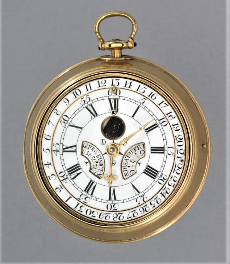 Die Taschenuhr mit ewigem Kalender von Mudge