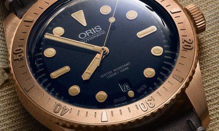 Die Oris Divers Sixty-Five Carl Brashear Taucheruhr ist eine Reminiszenz in Bronze