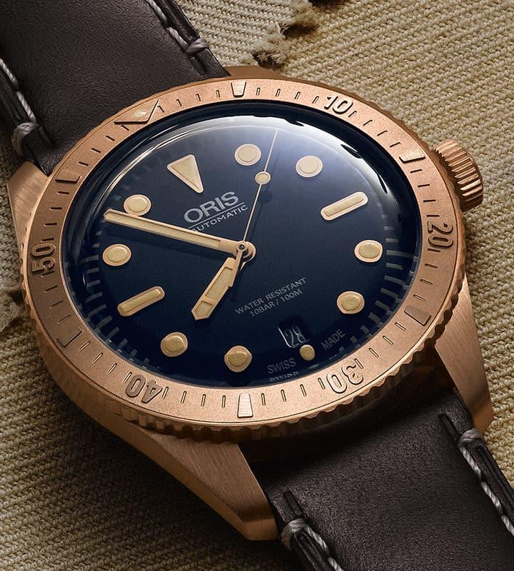Bronze-Taucheruhr Oris Divers Sixty-Five Carl Brashear Die Oris Divers Sixty-Five Carl Brashear Taucheruhr ist eine Reminiszenz in Bronze