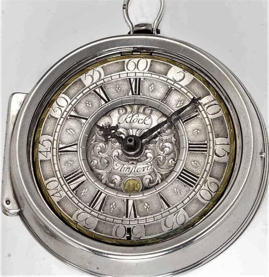 Diese wertvolle Taschenuhr stammt von Pieter Klock und wurde im Zuge einer Versteigerung bei Bonhams in London für über 6.000 Pfund versteigert