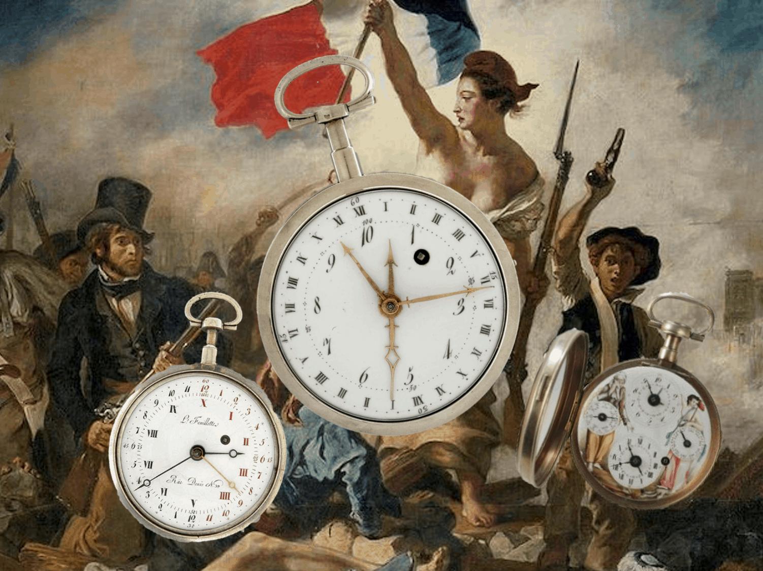 Revolutionäre 10-Stunden Uhren zur Zeit der französischen Revolution