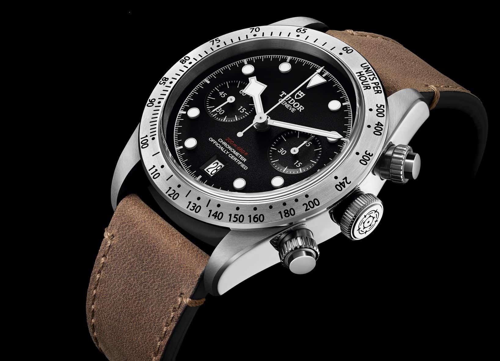 Die Black Bay Chronograph von Tudor ist ein sportlicher Entwurf