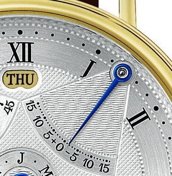 Äquationsanzeige einer Breguet-Uhr