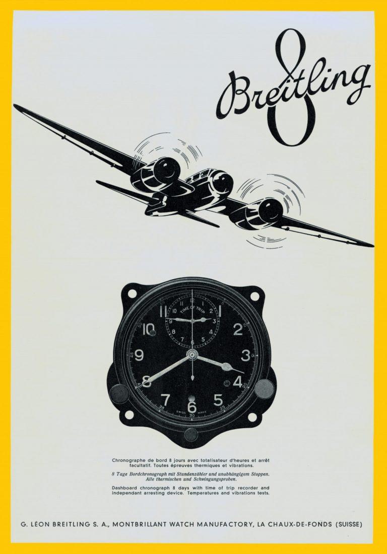 Breitling Anzeige von 1941 für die 8 Aviation Abteilung