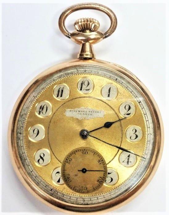 Historische Audemars Taschenuhr mit Kronenaufzug Bild Hess Auctions