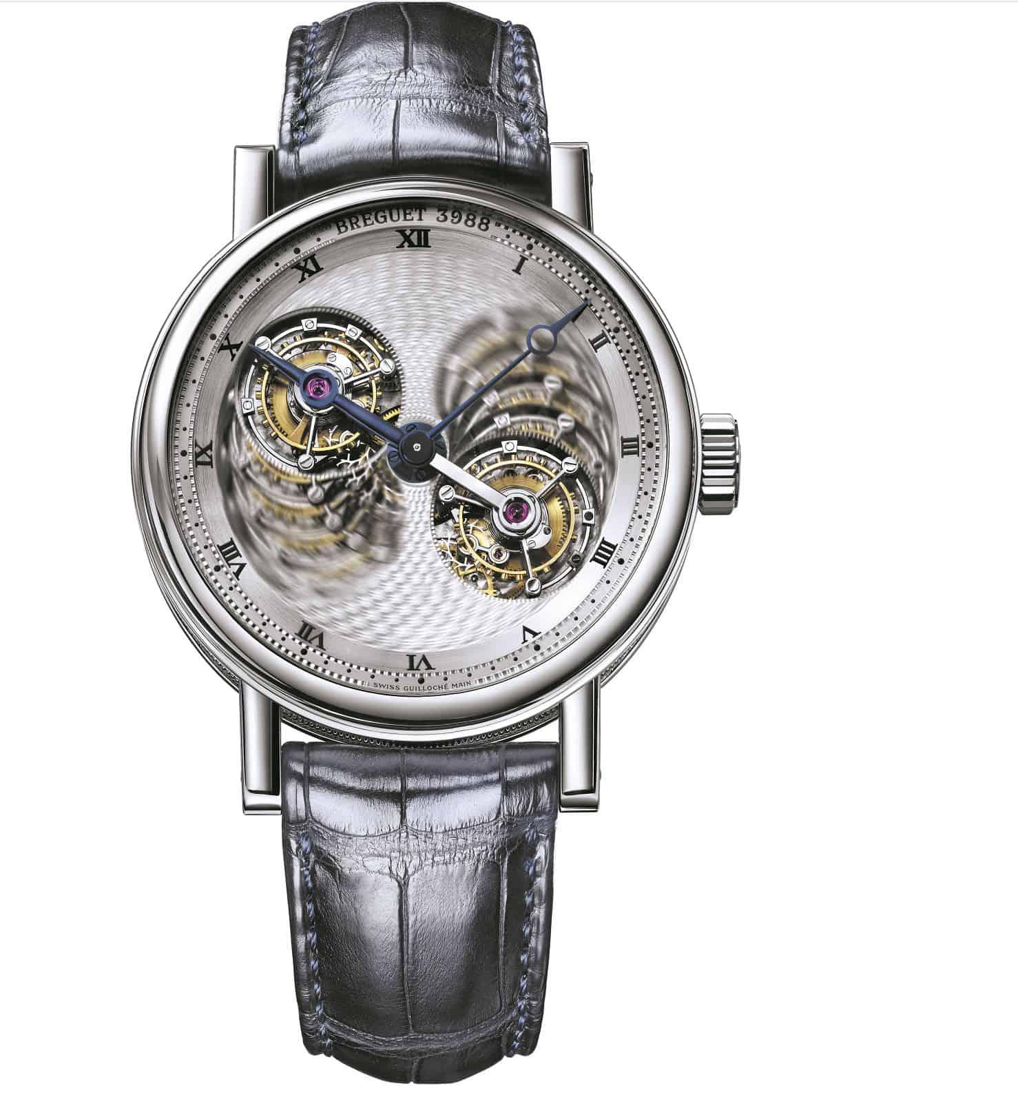 Ein oszillierendes Prunkstück für Uhrenliebhaber mit Sinn für Technik: Die Breguet Grande Complication Double Tourbillon 5347