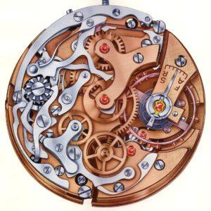 Klassisches Chronographenkaliber mit Schaltrad: Valjoux VZ
