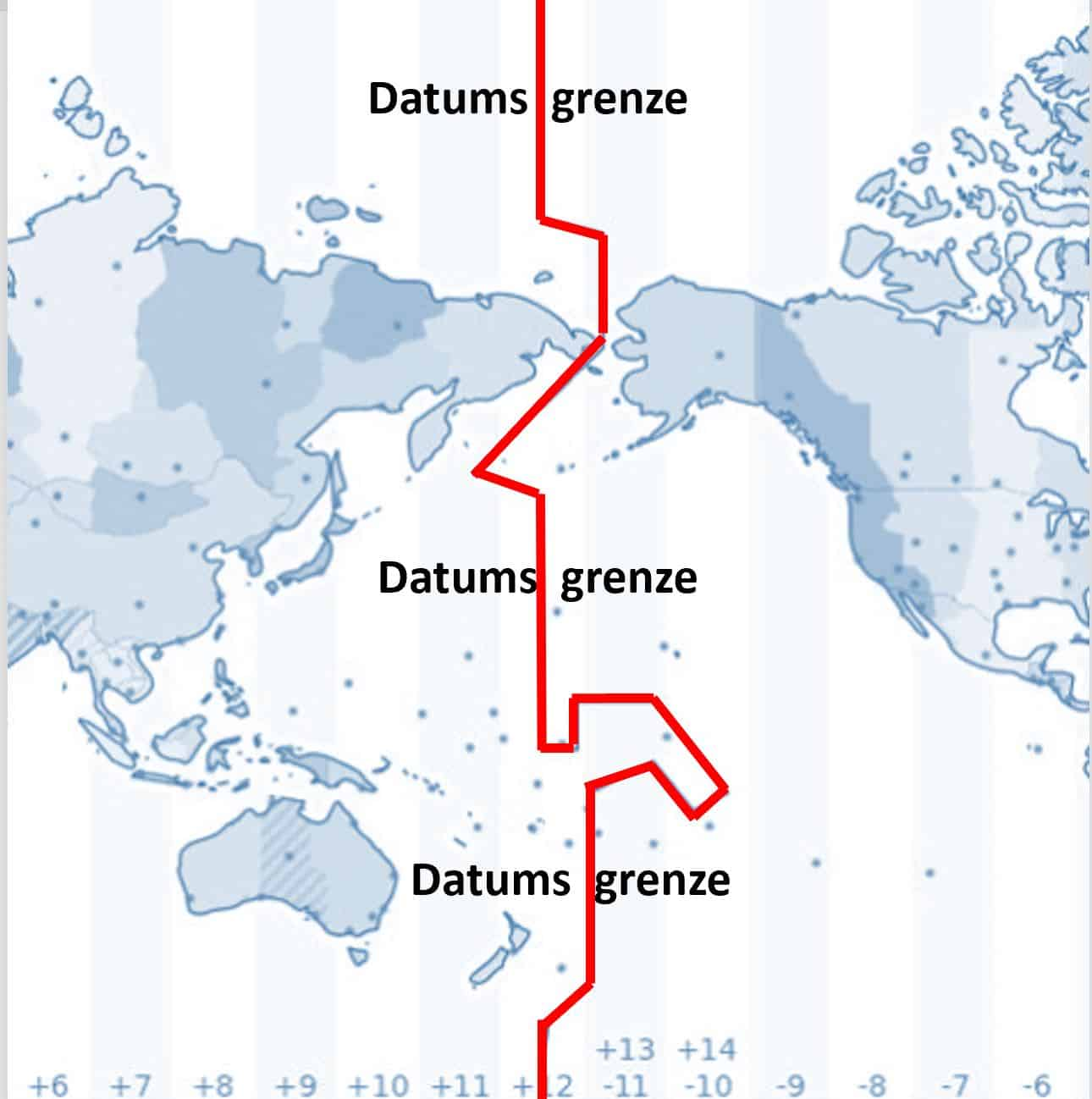 Datumsgrenze Weltkarte
