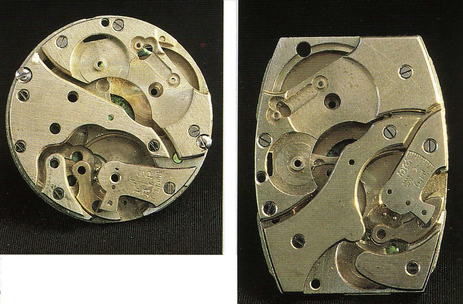 Die Grundplatines eines Ebauches in rund und tonneauförmig