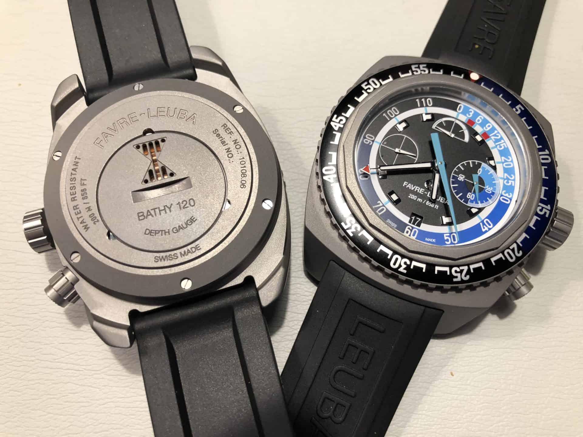 Diese Uhr von Favre-Leuba ist robust und erkennbar für den Sport konzipiert