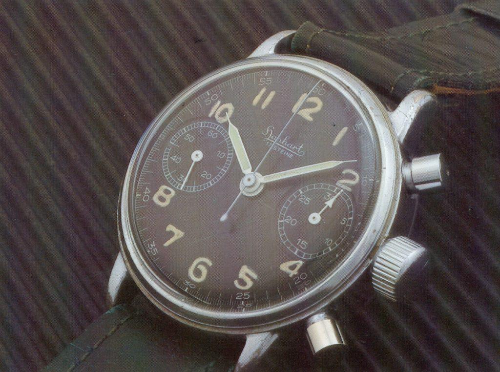 Der präzise Hanhart Fliegerchronograph entsprach militärischen Erfordernissen