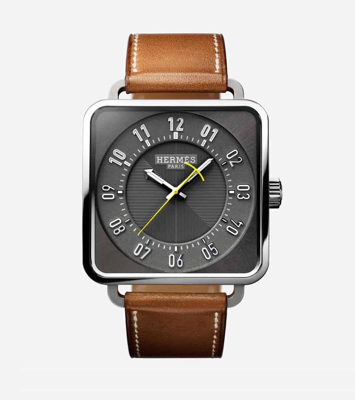 Die Hermes Carré H ist trotz quadratischer Form sehr elegant und wohl weniger etwas, für den kantigen Naturburschen. Dafür dürften sich die Fashionistas über eine markenpassende Uhr für ihr Outfit freuen