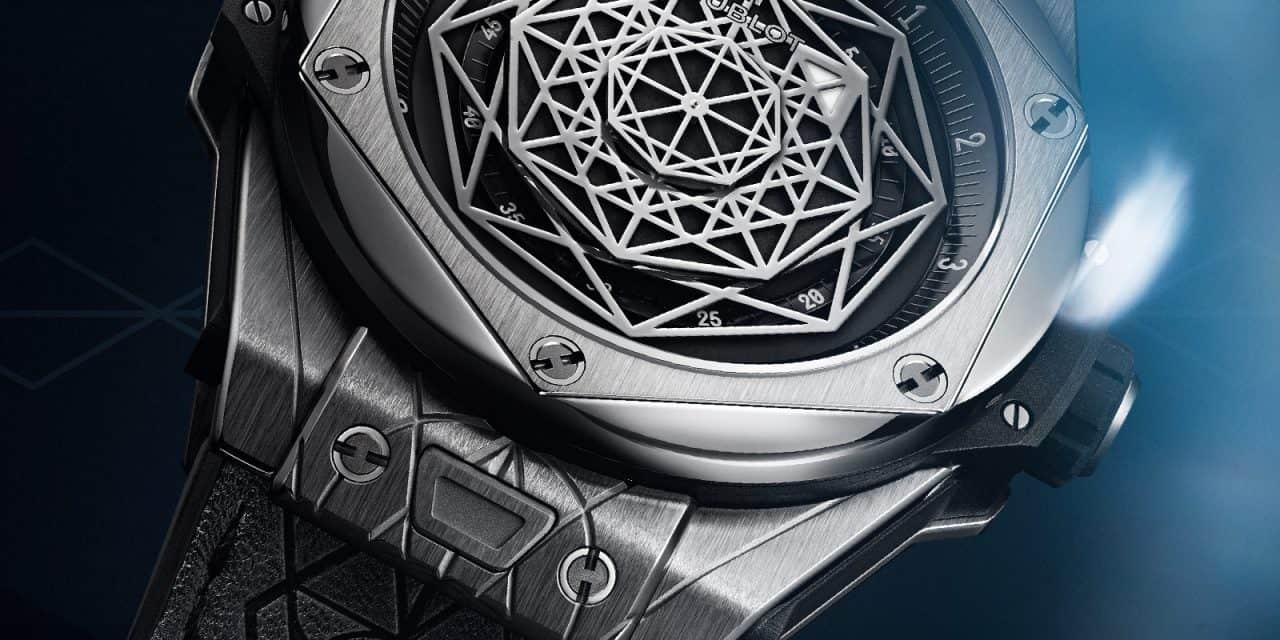 Das Hublot Big Bang Sang Bleu Design geht schier unter die Haut