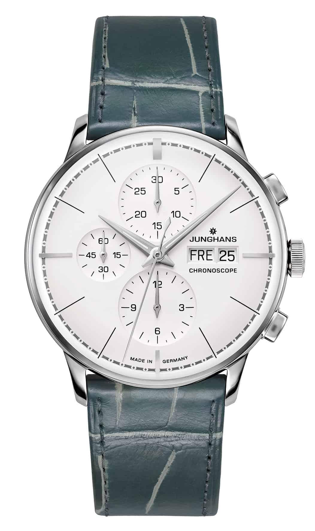 Uhr in Grau von Junghans
