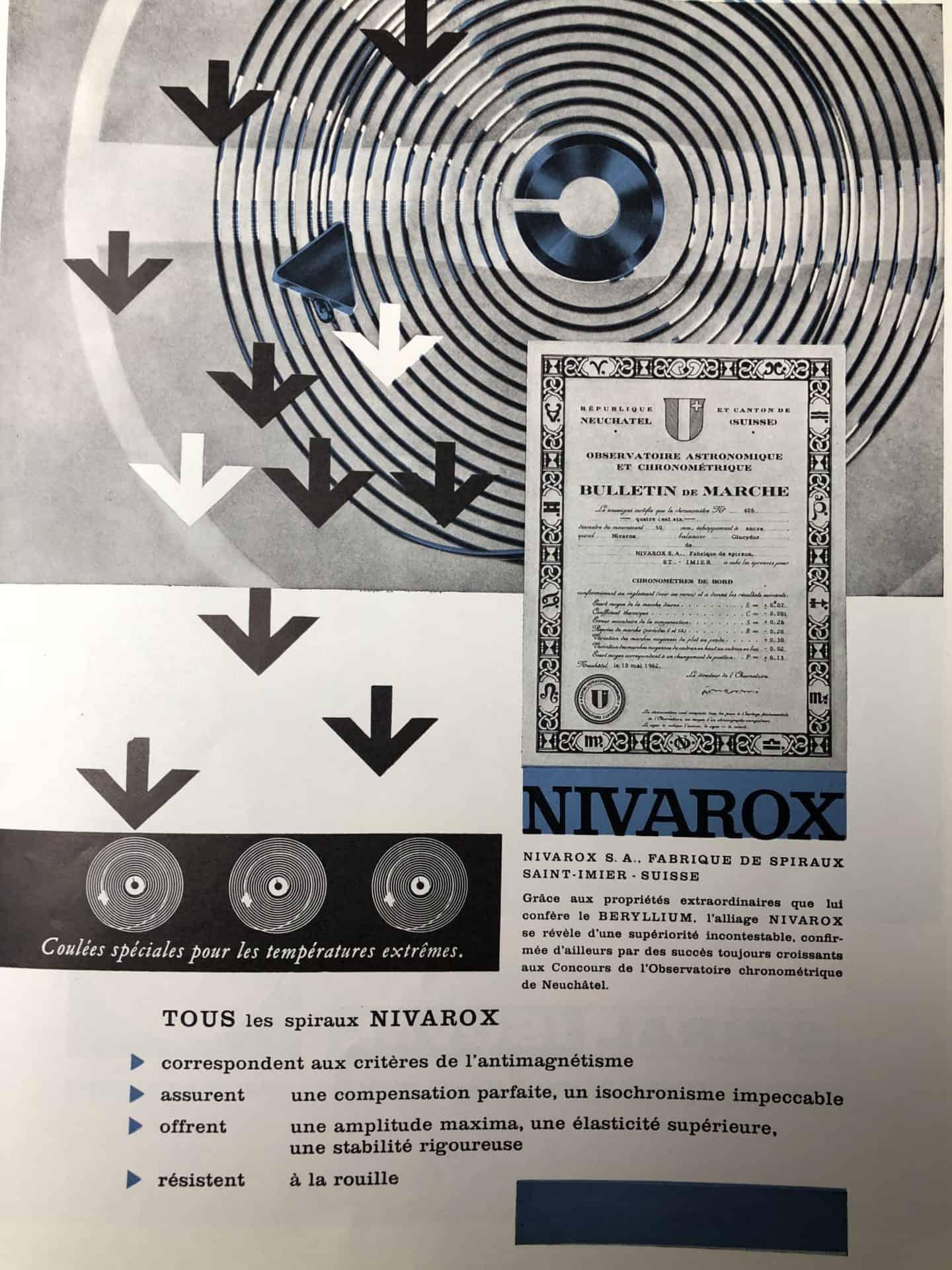 Nivarox bietet einige Vorzüge