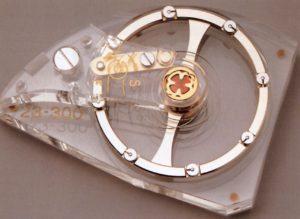 Vergrößertes Modell der Patek Philippe Gyromax-Unruh_Handaufzugskaliber 23-300