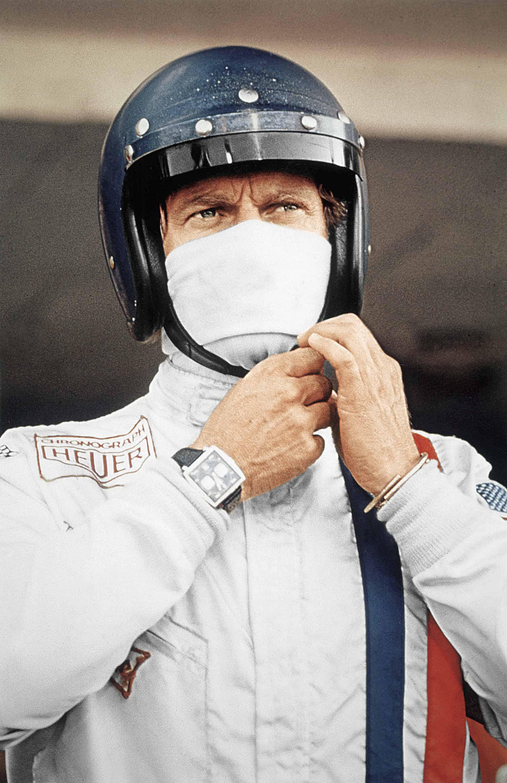 Steve McQueen, der wohl mit coolste Schauspieler seiner Zeit bei den Dreharbeiten zum Film Le Mans