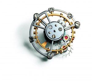 Tourbillon-Drehgestell mit integriertem Schwing- und Hemmungssystem0