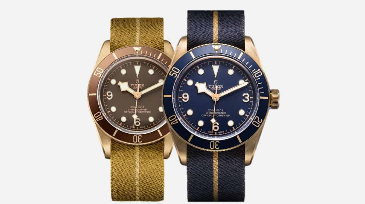 Tudor Heritage Black Bay Bronze: links Standard, rechts Bucherer Blue Editions