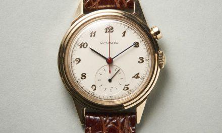 Dieser Vintage Movado Chronograph setzt auf modulare Bauweise