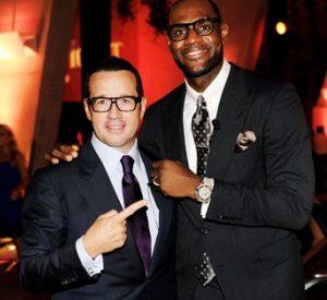 Francois Bennahmias mit LeBron James