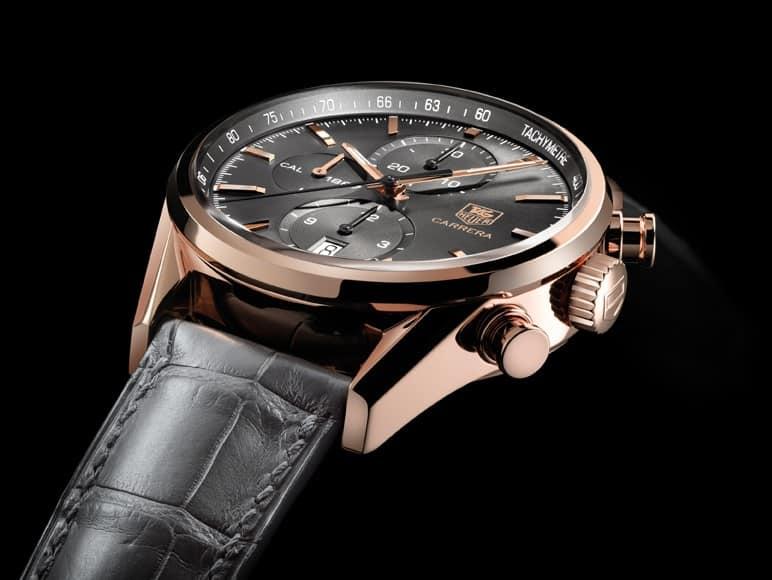 Womöglich darf sich Mats Hummels mehrere Uhren aussuchen - wir würden ihm als elegantem Fussballer die TAG Heuer Carrera in Roségold mit grauem Zifferblatt empfehlen