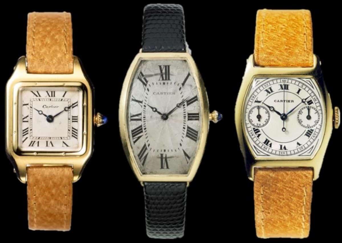 Cartier Santos von 1906 Tonneau 1906 und Tortue 1913