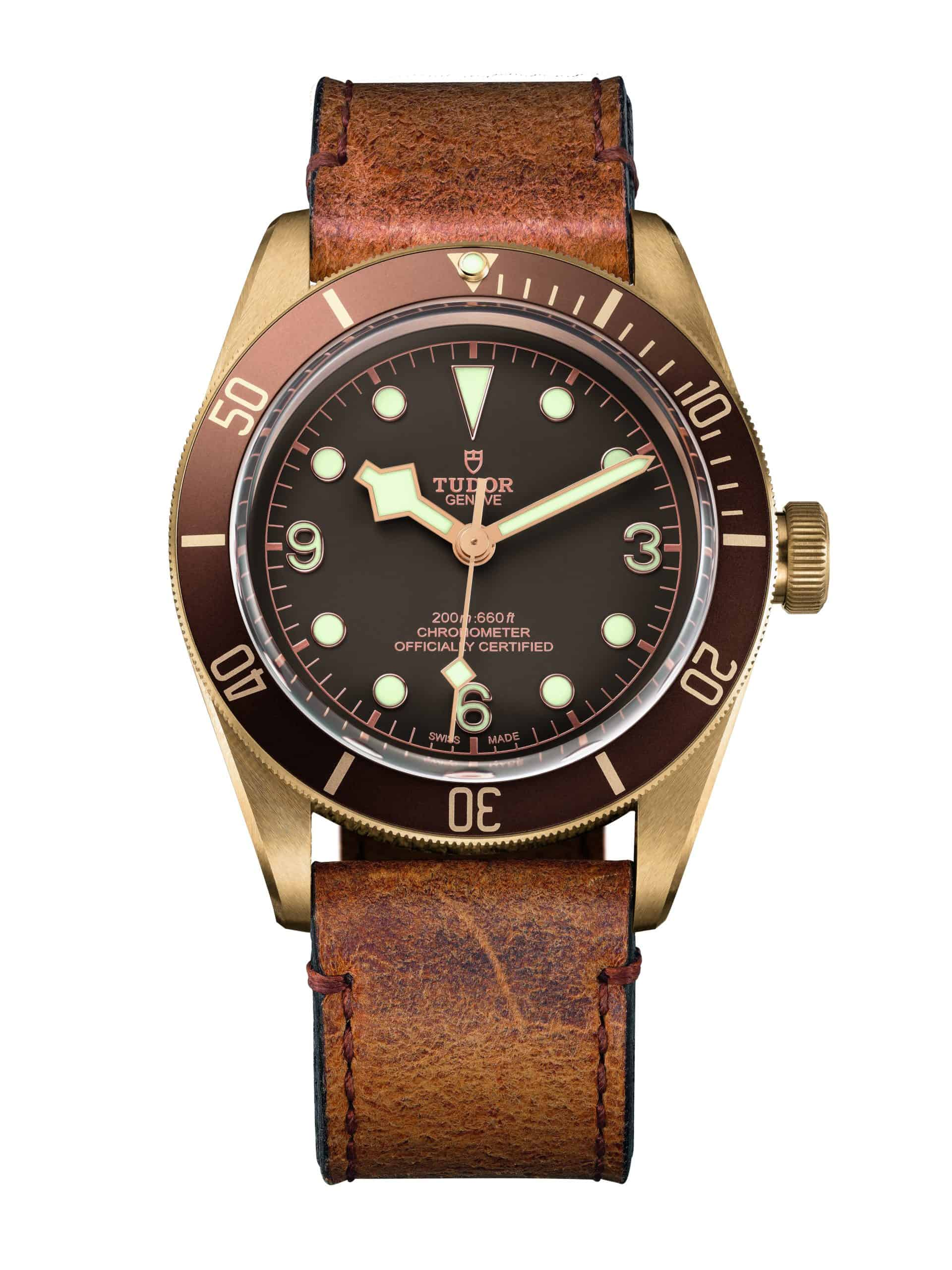 EMBARGO 16 März - TUDOR HERITAGE BLACK BAY BRONZE leather strap