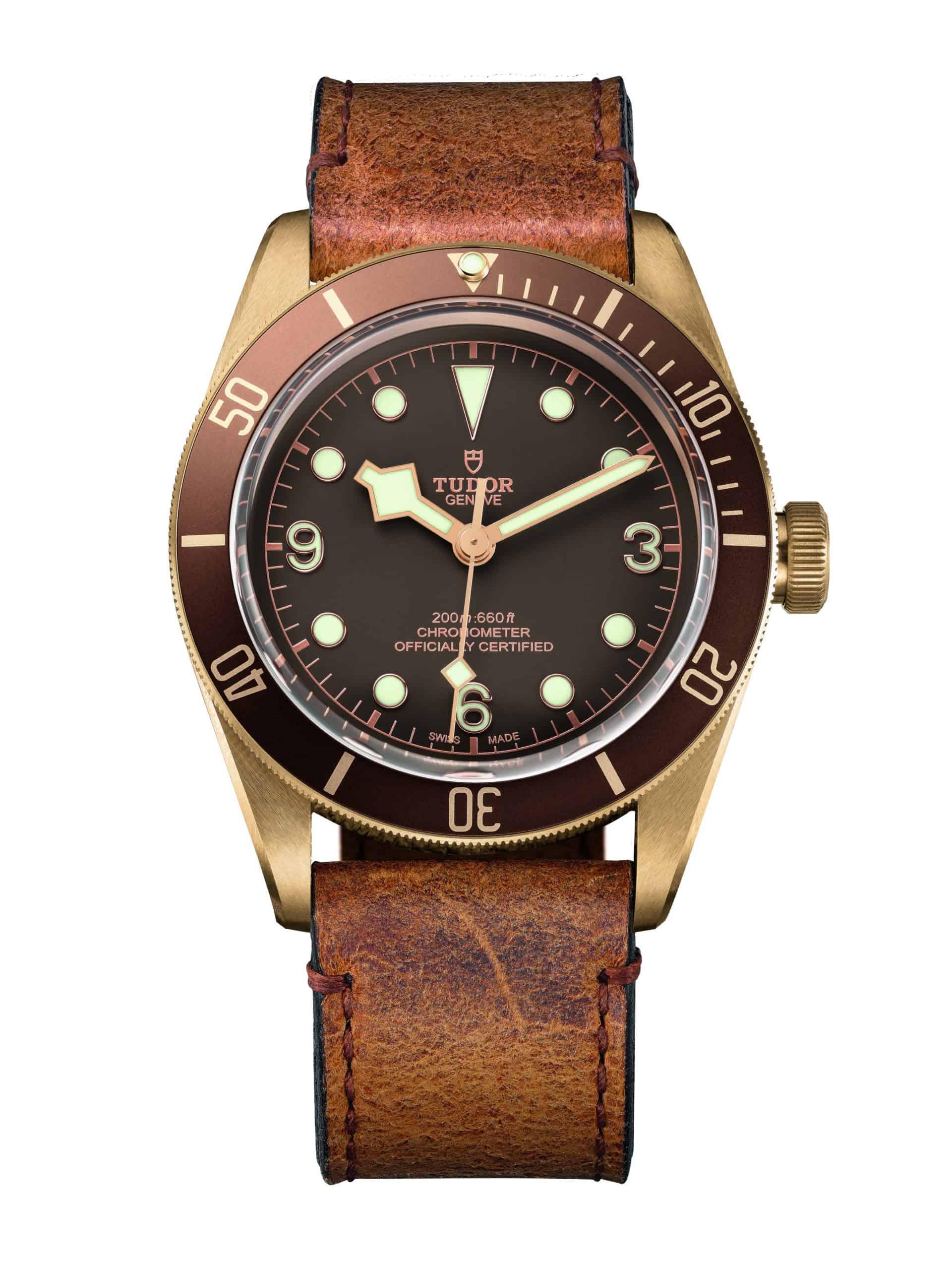 EMBARGO 16 März - TUDOR HERITAGE BLACK BAY BRONZE leather strap