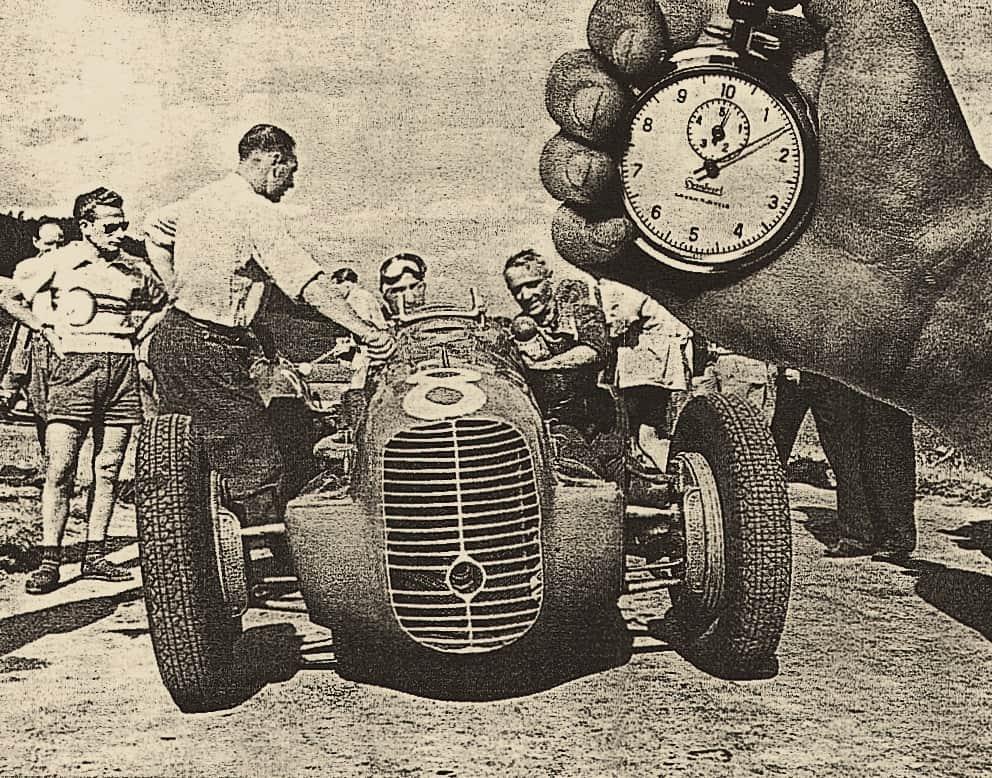 Hanhart Stoppuhr beim Einsatz am Nürburgring