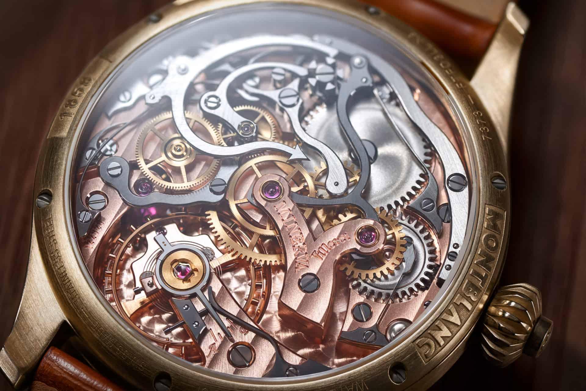 Ein kompliziertes Uhrwerk zum Staunen - das Montblanc 1858 Monopusher-Kaliber