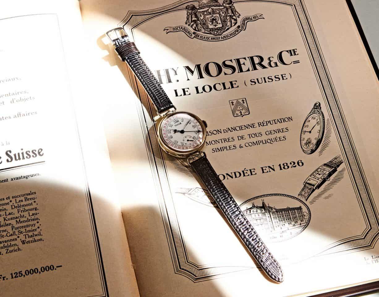 Früh im Kalender – die Armbanduhr von Henry Moser