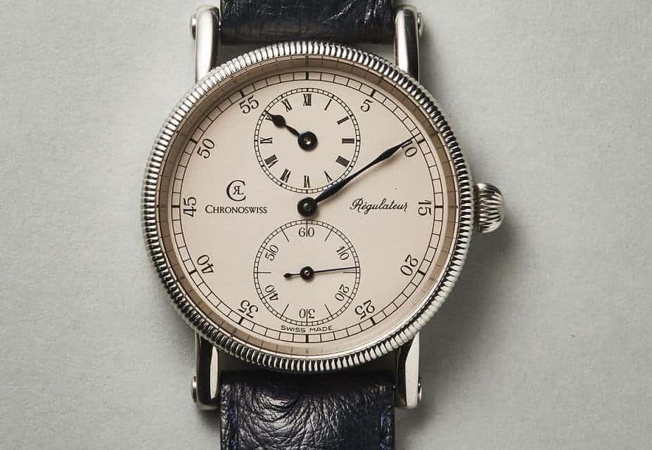 Die Einzeigeruhr Chronoswiss Regulateur mit Handaufzug ist der Uhrenklassiker von Gert-Rüdiger Lang