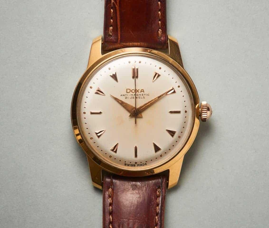 Der springende Punkt bei dieser Doxa Vintage Armbanduhr