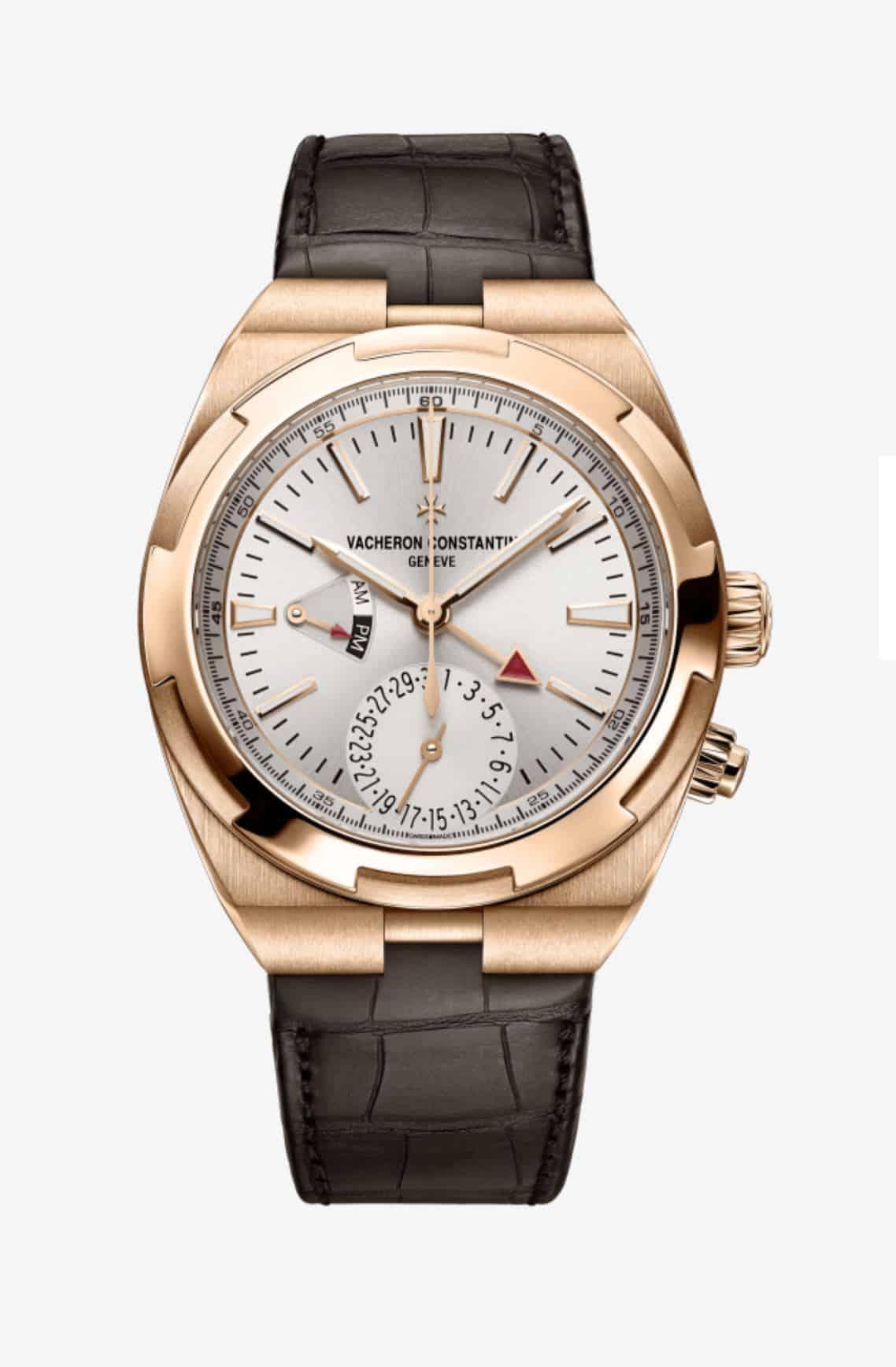 Vacheron Constantin Overseas Dual Time Gold Zifferblatt weiss