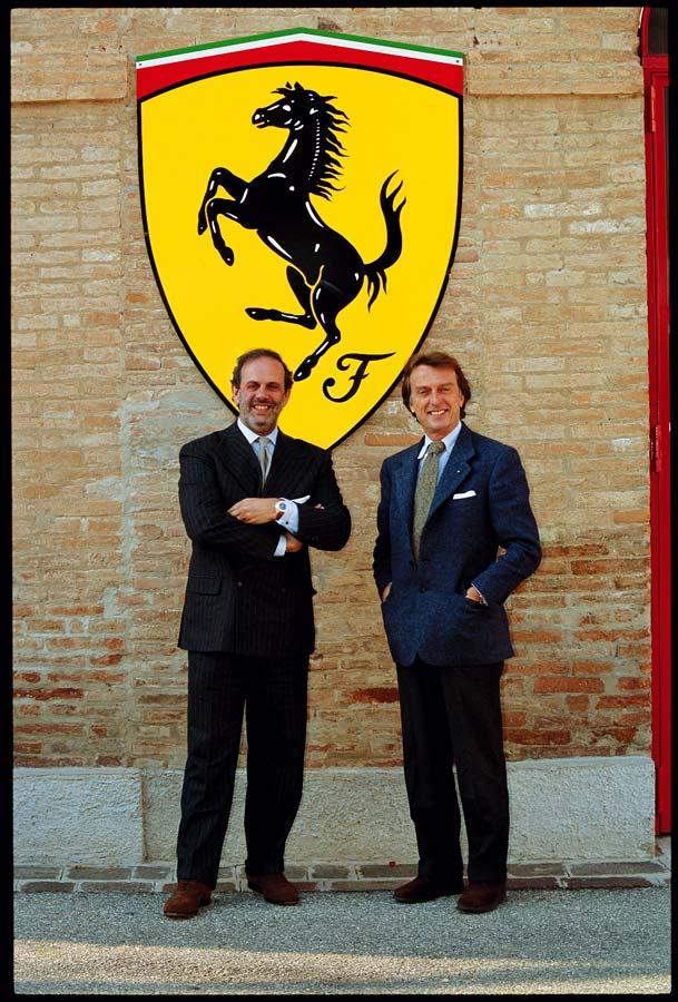 """Girard-Perregaux Eigentümer Luigi """"Gino"""" Macaluso und Luca di Montezemolo, der CEO von Ferrari"""