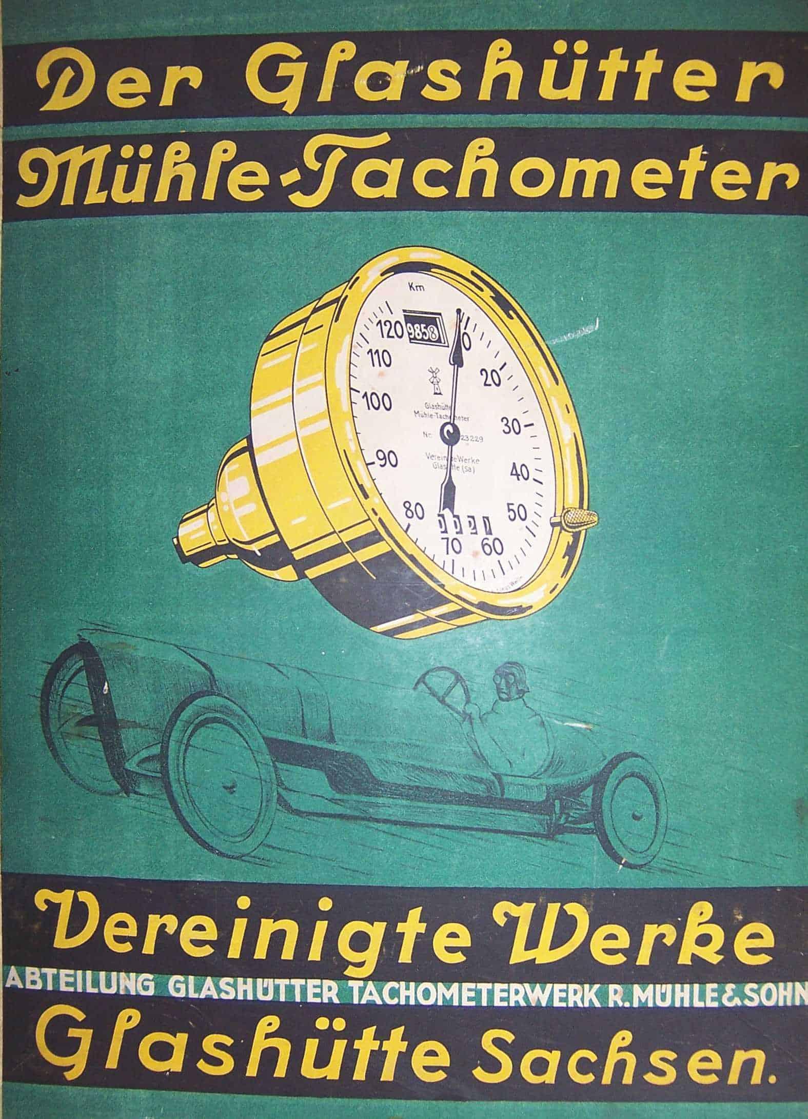 Glashütter Mühle Tachometer - 1. Mühle Generation
