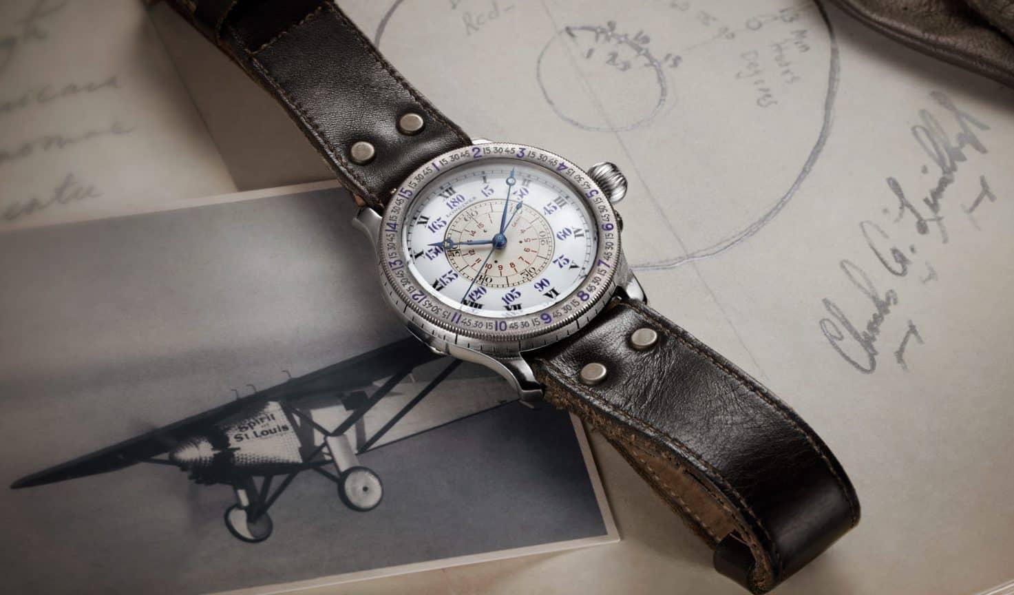 Longines widmet diese Stundenwinkel-Uhr dem berühmten Vorbild - Charles Lindbergh