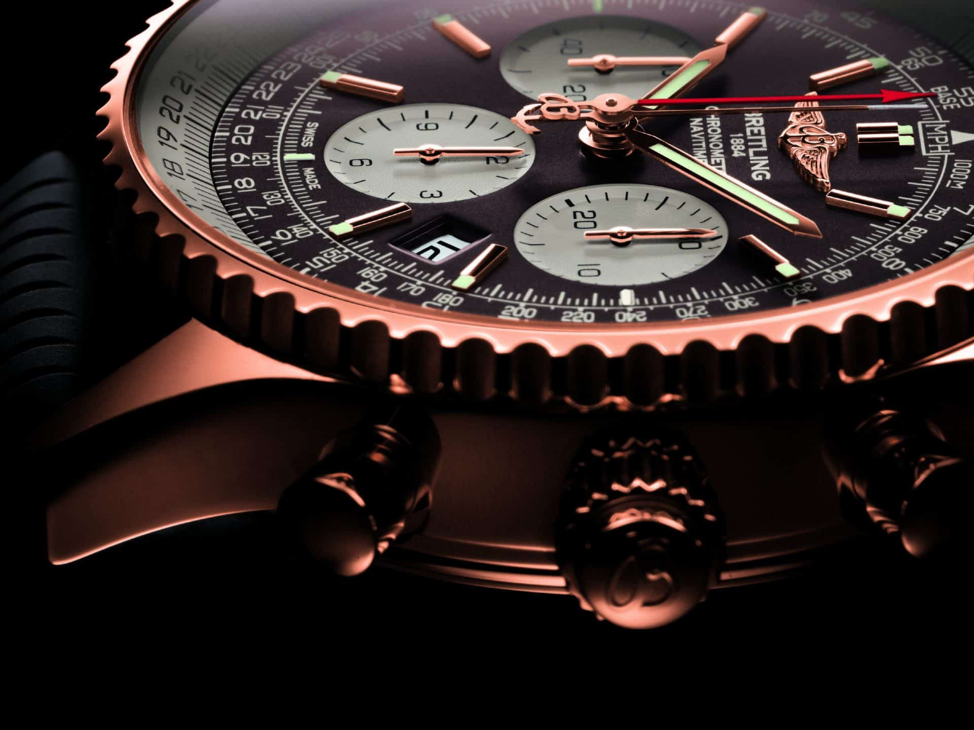Breitling Navitimer Rattrapante limitiert in Rotgold