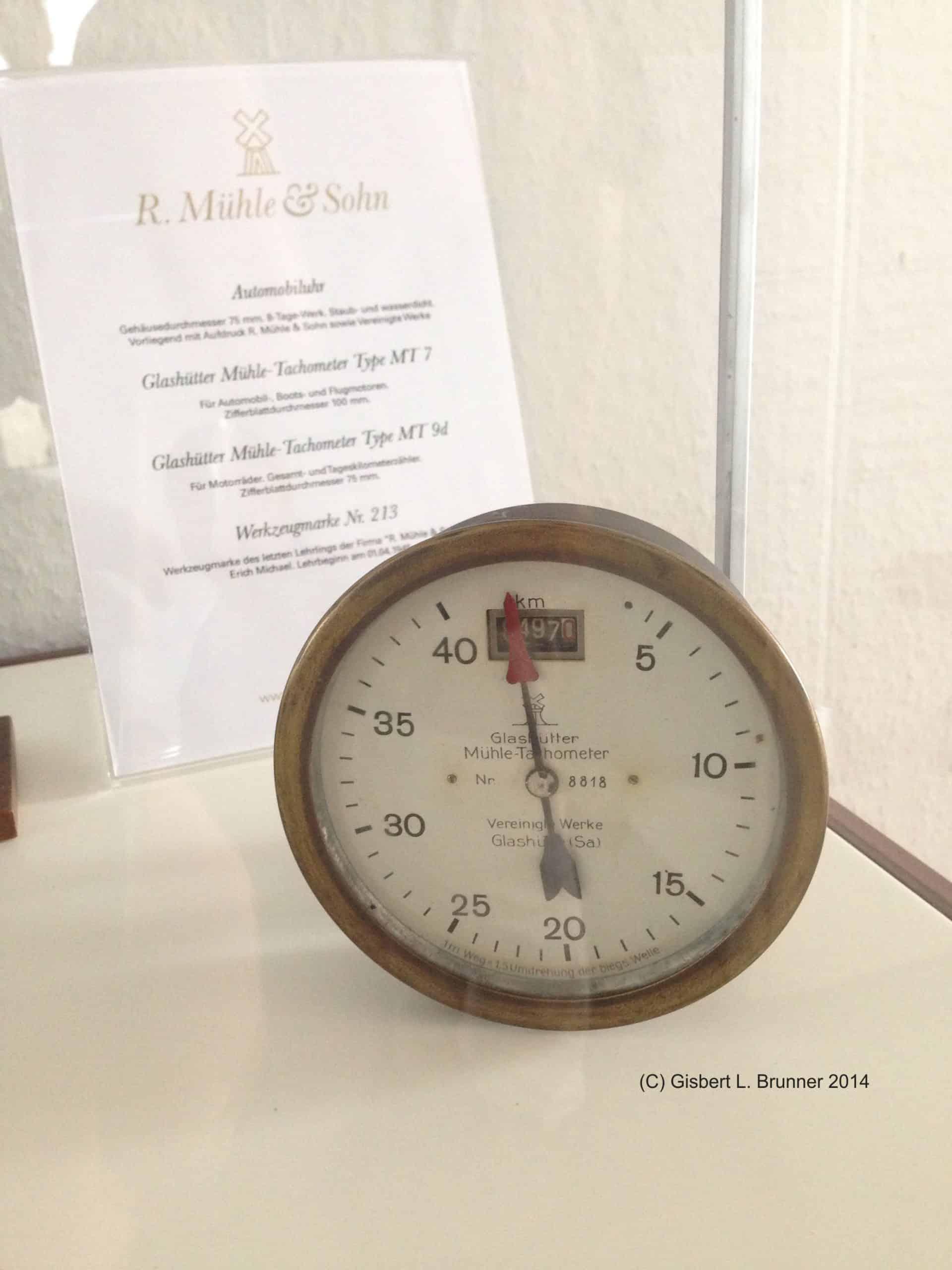 Tachometer von Mühle Glashütte
