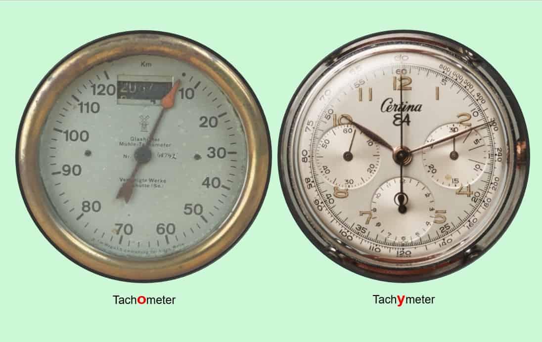 Ein Buchstabe macht den Unterschied: Tachometer versus Tachymeter