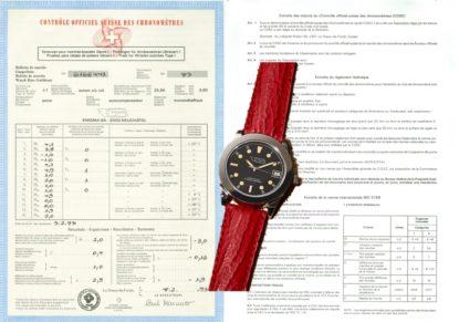 COSC Präzision mit Brief und Siegel